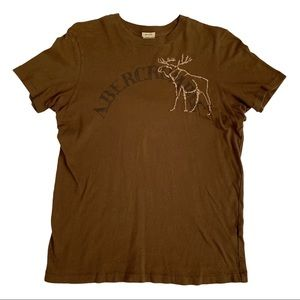 Abercrombie Vintage Brown Muscle Polo